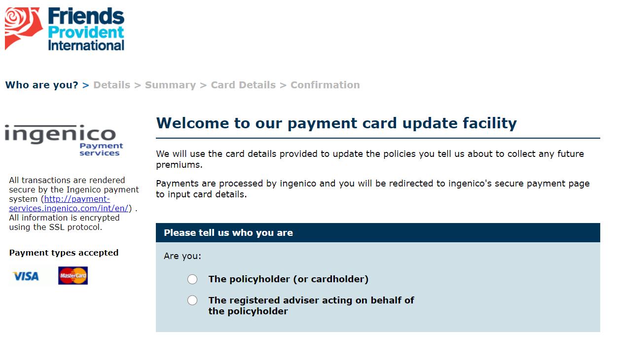 フレンズプロビデント(FPI)積立用支払いクレジットカードのネット完結変更手順 2021年【6月最新】三井住友カード以外